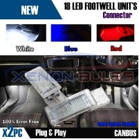 2x Golf MK5 MK6 MK7 7.5 LED VW BLUE Footwell Door Interior Lights unde..